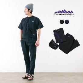 THOUSAND MILE(サウザンドマイル) サマーバケーション セットアップ / Tシャツ イージーパンツ サコッシュ / 3点セット / メンズ / SUMMER VACATION SET UP