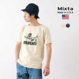 MIXTA(ミクスタ)ヴィンテージ 半袖 プリントスウェット(ワイルドキャッツ) / 長袖 / 裏起毛 / メンズ / レディース / アメリカ製 / WILD CATS/PRINT SWEATS/S