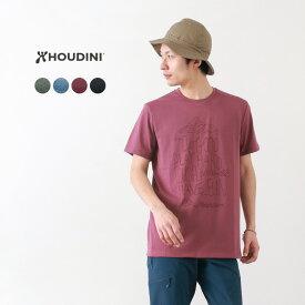 【期間限定クーポン対象!4/2 01:59まで】HOUDINI(フディーニ/フーディニ) メンズ ビッグアップ メッセージ Tシャツ / 半袖 プリント / ドライ / アウトドア スポーツ / M's Big Up Message Tee