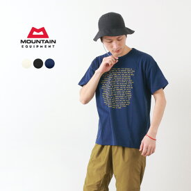 【限定クーポン対象】MOUNTAIN EQUIPMENT(マウンテンイクィップメント) グラフィック Tシャツ ABOVE & BEYOND / 半袖 プリント / 吸汗速乾 / メンズ / GRAPHIC TEE