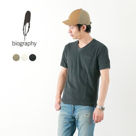 BIOGRAPHY(バイオグラフィー) アフターサーフ Vネック Tシャツ / メンズ / 半袖 / ミクロパイル / 日本製 / AFTER SURF TEE(V-NECK)