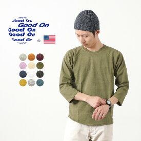 【ポイント10倍!1/18(月)01:59まで】GOOD ON(グッドオン) ベースボール Tシャツ ラグラン 7分袖 / メンズ / 無地 / ピグメントダイ / アメリカ製生地 / 日本製 / GOLT-601