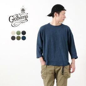 GOHEMP(ゴーヘンプ) ヘビージャージー ラウンドルーズ Tシャツ / 7分袖 / メンズ / ヘンプ コットン / 日本製 / HEAVY JERSEY ROUND LOOSE TEE