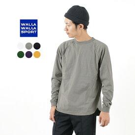 WALLA WALLA SPORT(ワラワラスポーツ) ロングスリーブ ルーズ ベースボール Tシャツ / メンズ / 無地 長袖 / 日本製 / L/S LOOSE BASEBALL TEE