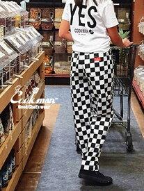 COOKMAN クックマン シェフパンツ chef pants メンズ レディース ユニセックス 男女兼用 おしゃれ かわいい 大きいサイズ Chef Pants Checker チェッカー イージーパンツ カジュアル バギーパンツ 料理 コックマン 231-83831