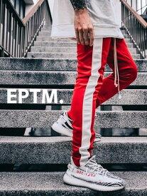 期間限定!最大20%OFFクーポン対象商品 EPTM エピトミ パンツ トラックパンツ メンズ レディース ユニセックス RED/WHITE TECHNO TRACK PANTS ジャージー ジャージ ロングパンツ サイドライン アメリカ製 Made in USA ボトムス EP7590