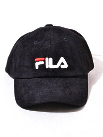 FILA フィラ キャップ レディース メンズ ユニセックス ブランド おしゃれ かわいい グレー ベージュ 帽子 キャップ FAKE SUEDE LOW CAP フェイクスエード ロー キャップ 6パネル ロゴ 刺繍 ペア リンクコーデ FILA-CAP-S 197-113703