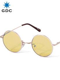 期間限定!最大20%OFFクーポン対象商品 GDC サングラス メンズ レディース ユニセックス ブランド おしゃれ かわいい 丸 薄い 色 オレンジ 丸メガネ ジーディーシー WANDERLUST ワンダラスト GGDC 眼鏡 メガネ カラーレンズ ドライブ フェス 海 33030-ORG