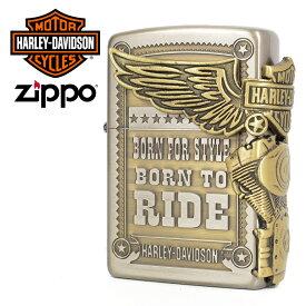 期間限定!最大20%OFFクーポン対象商品 ハーレーダビットソン ジッポ zippo Harley Davidson エンジン ウィング フライング エンブレム HDP-27