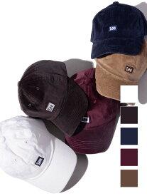 LEE リー キャップ レディース メンズ ユニセックス キッズ ブランド 帽子 BOX LOGO CAP コーデュロイ ロゴキャップ ベースボールキャップ 6パネル ローキャップ ボックスロゴ 刺繍 LA0321-304-324-327-331-376