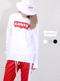 期間限定!!最大20%OFFクーポン対象商品 LEVI'S リーバイス Tシャツ レディース メンズ ユニセックス 長袖 ロゴ バットウイング ステッチ LEVIS Levi's ロンT ロングスリーブ ペアルック 部屋着 36015-0010 36015-0011 36015-0013