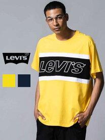 期間限定!!最大20%OFFクーポン対象商品 LEVI'S リーバイス Tシャツ レディース メンズ ユニセックス 半袖 ブランド 綿100% カラー ブロック 切り替え ロゴ LEVIS Levi's ダンス 練習着 ジム ストリート ルームウェア 部屋着 ペア リンクコーデ 79594