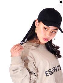 MACK BARRY マクバリ— 帽子 キャップ レディース メンズ ユニセックス ブランド 無地 韓国 大きめ おしゃれ かわいい MACK LONGSTRAP CURVE CAP ロングストラップ シンプル ストリート ダンス LONGSTRAP-CAP
