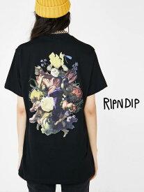 【ゆうメール便送料無料】RIPNDIP リップンディップ Tシャツ メンズ レディース ユニセックス 半袖 ブランド おしゃれ 大きいサイズ 綿100% 猫 ネコ HEAVINLY BODIES 絵画 オマージュ リッピンディップ ストリート スケーター RND3541
