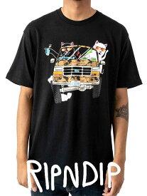 【ゆうメール便送料無料】RIPNDIP リップンディップ Tシャツ メンズ レディース ユニセックス 半袖 ブランド おしゃれ 大きいサイズ 綿100% 猫 ネコ グッズ The Whole Gang ドライブ エイリアン Rip N Dip リッピンディップ RND3560