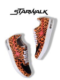 STARWALK スターウォーク STAR WALK スター ウォーク スニーカー メンズ レディース ユニセックス ブランド shoes 靴 シューズ ローカット EPISODE 2 ハラコ オレンジ レオパード ゼブラ 豹柄 シューティング スター 星 ストリート 限定 モデル SW1811-10037
