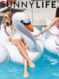 SUNNYLIFE サニーライフ スワン フロート 浮き輪 浮輪 うきわ 白鳥 ビッグサイズ ホワイト Luxe Float Swan 海水浴 ビーチ プール お風呂 父の日 プレゼント ギフト ラッピング