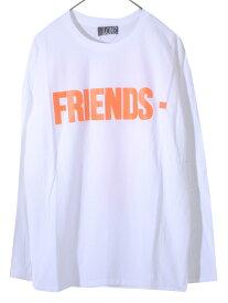 期間限定!最大20%OFFクーポン対象商品 VLONE ヴィーロン ヴィーローン Tシャツ メンズ レディース ユニセックス 長袖 フレンズ FRIENDS LONG SLEEVE SHIRT A$AP Mob エイサップモブ ASAP BARI エイサップ バリ Kanye West カニエ・ウエスト 愛用ブランド FRIENDS-LST