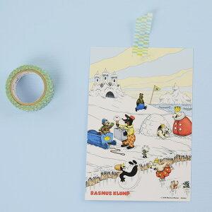 ラスムスポストカード(雪遊び)