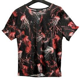 ハイブランド系 クラゲ柄 Tシャツ ストレッチ フリーサイズなのでどなたでも 一枚お持ちでコーデ楽チンギフト