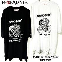 PROPA9ANDA/プロパガンダ「ROCK'N'ROMANCEBIGTEE」ビッグTシャツワンピース半袖黒白ブラックホワイトスカルドクロメンズレディース大きいサイズ映画TRUEROMANCEロックパンクROCKPUNKバンドギフトラッピング無料ステージ衣装Rogia