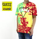 GUESS ゲス GUESS×J.BALVIN VIBRAS COLLECTION 半袖Tシャツ SS BSC CREW TIE DYE VIBRAS M91I71R43I2 【正規取り扱い代理店】【ロゴ …