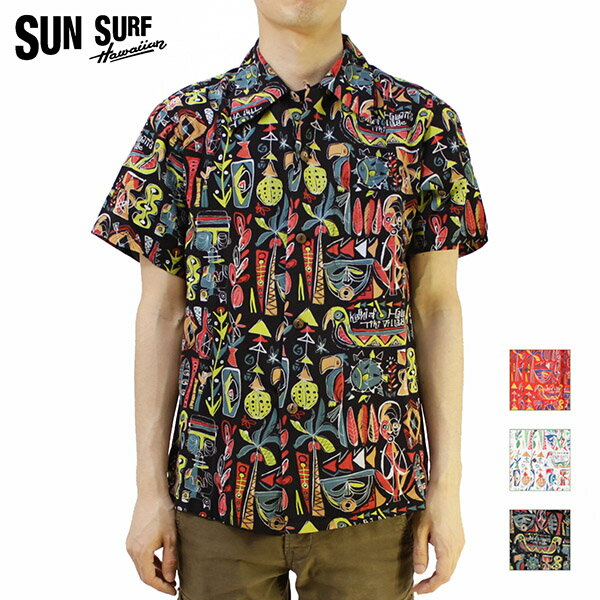 "SUN SURF サンサーフ アロハシャツ2016 SPECIAL EDITIONKEONI OF HAWAII""TiKi ViLLAGE"" by Mookie SatoSS37333【楽ギフ_包装】【RCP】【smtb-k】【ky】10P03Dec16"