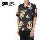 """SUN SURF サンサーフ アロハシャツ """"BEING TO DANCE HULA"""" CAPISTRANO OF CALIFORNIA SS38033 【フラダンス フラ ティキ ハワイ 東洋エ…"""