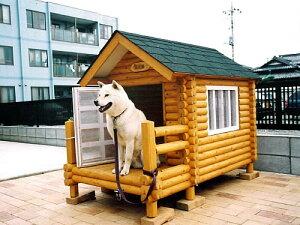 ログペットハウス1100型 屋外 柴犬 犬小屋 中型犬 小型犬