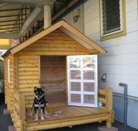 ログペットハウス 1250型 デラックス 屋外 ゴールデンレトリバー ラブラドールレトリバー 柴犬 犬小屋 大型犬 中型犬 犬舎