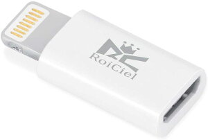 【改善版】RoiCiel(ロイシエル) Micro to Lightning USB Adapter 8pin Lightning 変換コネクタDF-RC56-W