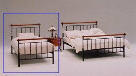 姫系ベッド シングルベッド スチールベット SBー25 スチールベッド ブラウン おしゃれ