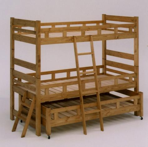 3段ベッド 三段ベッド ベッド 親子ベッド スノコ 木製 マザー 親子3段ベッド ブラウン