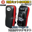 【ISAMI・イサミ】湾曲型キックミット 1個 BX-142(BX142)■空手■格闘技■タイサマイ