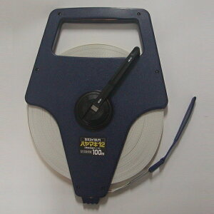 100mメジャー エスロン巻尺(メジャー)ハヤマキタイプ 100m No.12100-HRW(No.12100HRW) 早巻き リール 測定機器 ファイバーテープ 両面目盛付き