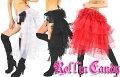 3カラー♪フリルチュールヒップパニエチュチュダンスダンサー衣装ステージバトン発表会社交ダンスGOGOレゲエヒップホップスカート黒ブラック赤レッド白ホワイト