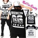 大きいサイズ☆BROOKLYNモノトーン配色Tシャツ 黒白 ブラック ホワイト ブルックリン ガールズヒップホップ ダンス衣装 B系 HIPHOP キッズダンサー XLサイズ LLサイズ レディース