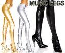 MusicLegs(ミュージックレッグ) ウェットルックストッキング/タイツ 36112 ゴールド シルバー ブラック 黒 ボンテージ 女王様 メタリック パン...