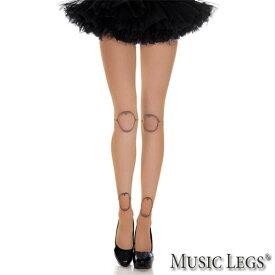 MusicLegs(ミュージックレッグス)球体関節プリント ドールタイツ ML37315 ストッキング ベージュ 人形 コスプレ コスチューム ハロウィン レディース 70デニール 仮装 お人形 ゴスロリ ロリータ 原宿系ファッション A1428