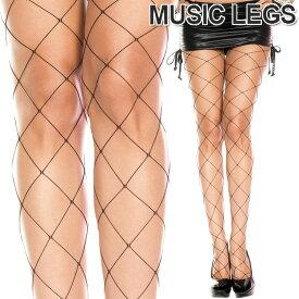 MusicLegs(ミュージックレッグス)ビッグダイアモンドネットパンティストッキング/タイツ ML9032 黒 ブラック レディース パンスト ダンス衣装 ダンサー パーティー A843