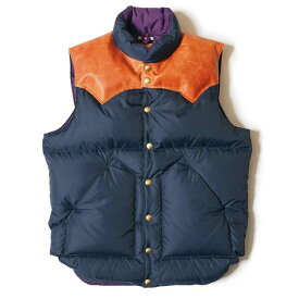 ★SALE 20%OFF★ WAREHOUSE ウエアハウス × Rocky Mountain Feather Bed ロッキー マウンテン Lot 2121 ROCKY MOUNTAIN×WAREHOUSE & CO. NYLON DOWN VEST ダウンベスト コラボレーション ダブルネーム
