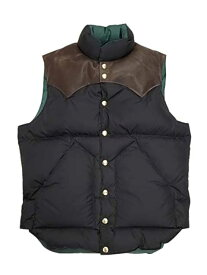 ★SALE 20%OFF★ WAREHOUSE ウエアハウス × Rocky Mountain Feather Bed ロッキー マウンテン WH DOWN VEST 590 BLACK ダウンベスト コラボレーション ダブルネーム