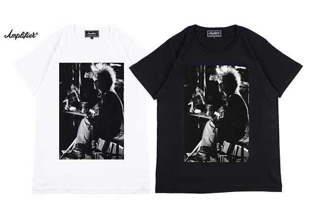 "Amplifier アンプリファイア ""hide"" TEE design A ヒデ X Japan 2色(Black/White)"