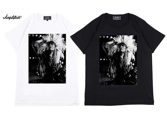 """Amplifier アンプリファイア """"hide"""" TEE design B ヒデ X Japan 2色(Black/White)"""