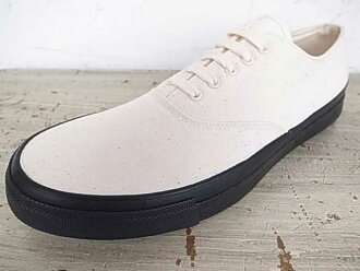 ANATOMICA anatomic WAKOUWA DECK SHOES CANVAS NATURAL / natural / Black canvas deck shoes Oki BLACK