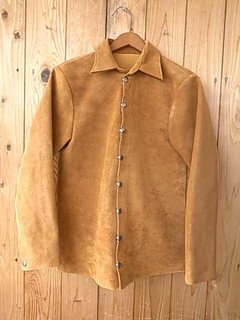 FAR EASTERN ENTHUSIAST ファー イースタン エンスージアスト C.M.M. Suede Shirts Jacket CMM スエード シャツ ジャケット Gold ゴールド