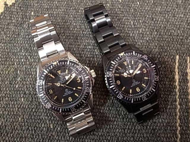 FAR EASTERN ENTHUSIAST ファー・イースタン・エンスージアスト ROYAL NAVY WATCH ステンレスベルト ロイヤル ネイビー ウォッチ SILVER/BLACK 腕時計