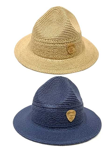 ★SALE 20%OFF★ GOHEMP ゴーヘンプ CABLE MOUNTAIN HAT ケーブル マウンテン ハット 2色(NATURAL・NAVY) 麦わら帽子