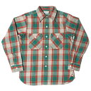 ★SALE 30%OFF★ HELLER'S CAFE ヘラーズカフェ HC-218-2 1940's Green Check Flannel Shirts OR グリーン チェッ…