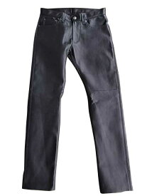 ★SALE 40%OFF★ FROM THE GARRET WIRY HORSE LEATHER PANTS BLACK ホースレザーパンツ ブラック 馬革